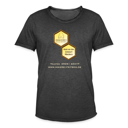 Imkerei Kevin Fritsch 2 Waben groß - Männer Vintage T-Shirt