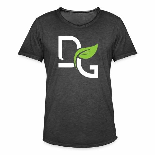 DrGreen Logo Symbol weiss grün - Männer Vintage T-Shirt