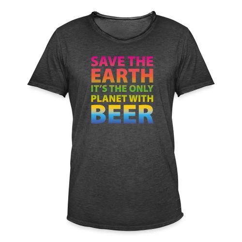 sauver la bière de la terre - T-shirt vintage Homme