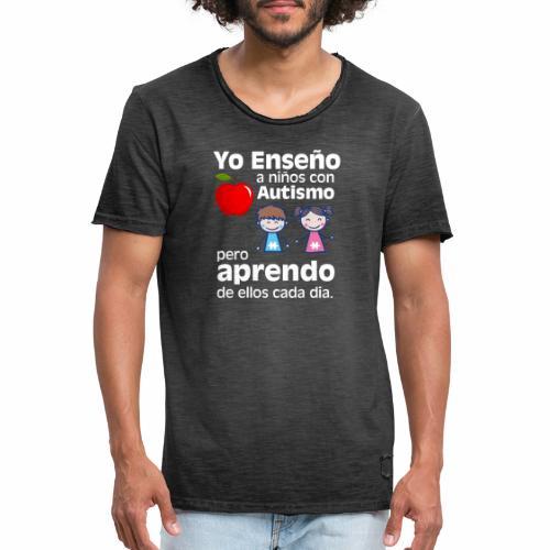 Yo aprendo del Autismo - Camiseta vintage hombre