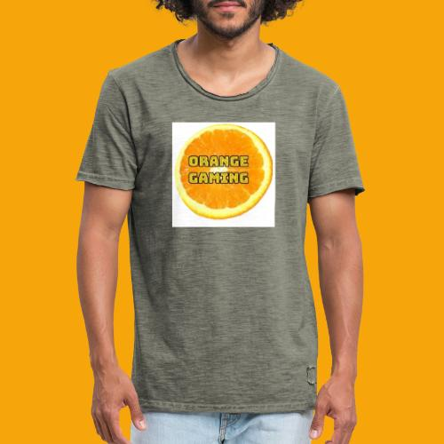 Orange_Logo_White - Men's Vintage T-Shirt