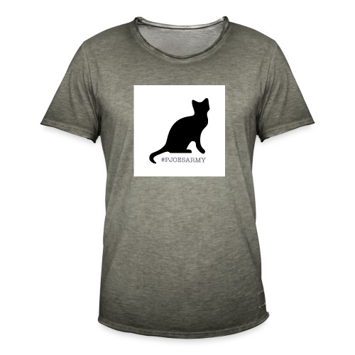 #pjoesarmy met poes - Mannen Vintage T-shirt
