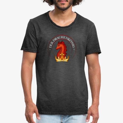 Drachenkoenig Logo - Männer Vintage T-Shirt