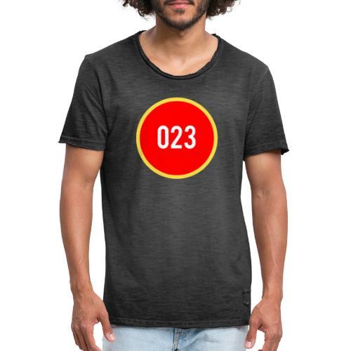 023 logo 2 - Mannen Vintage T-shirt