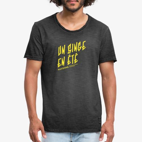 LOGO baseline jaune - T-shirt vintage Homme
