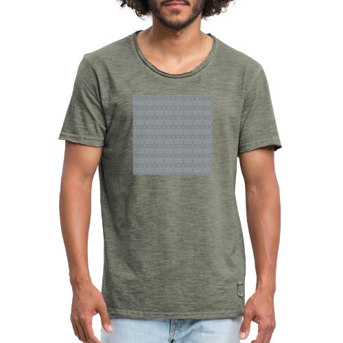 helsinki railway station pattern gray - Men's Vintage T-Shirt