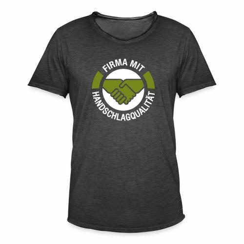 Handschlagqualität Logo weiss - Männer Vintage T-Shirt