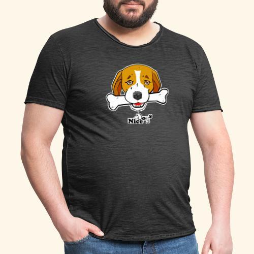 Nice Dogs Semolino - Maglietta vintage da uomo