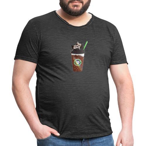 Catppucino Dark Chocolate - Men's Vintage T-Shirt