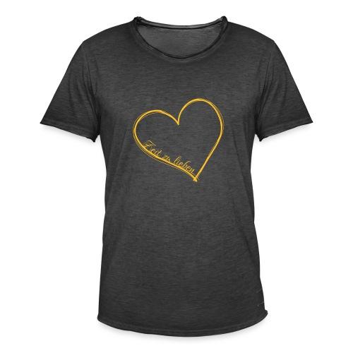 Zeit zu lieben - Männer Vintage T-Shirt