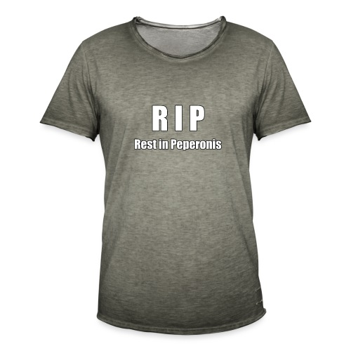 RIP Rest in Peperonis - Männer Vintage T-Shirt