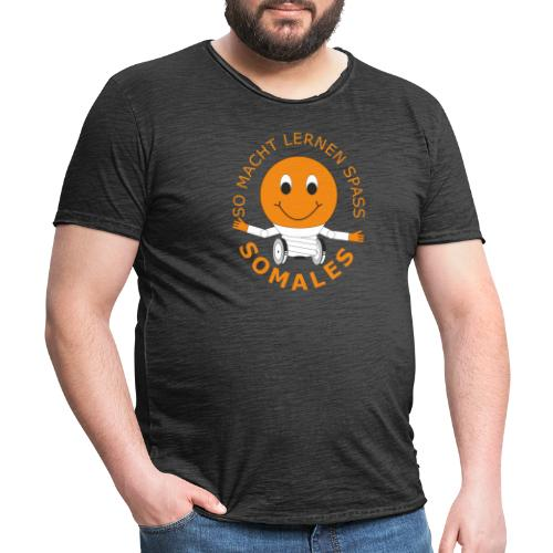 SOMALES - SO MACHT LERNEN SPASS - Männer Vintage T-Shirt