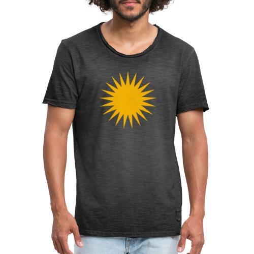 Kurdische Sonne Symbol - Männer Vintage T-Shirt