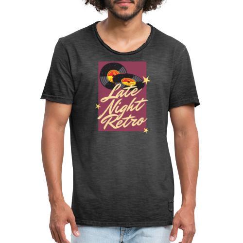 Late Night Retro, Schallplatte, Retro Look - Männer Vintage T-Shirt