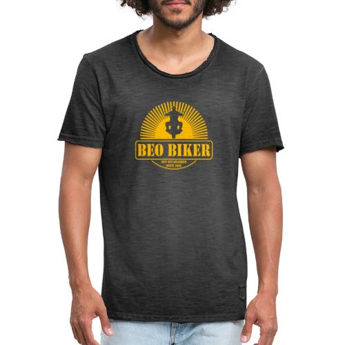 Logo Beo Biker Yellow - Männer Vintage T-Shirt
