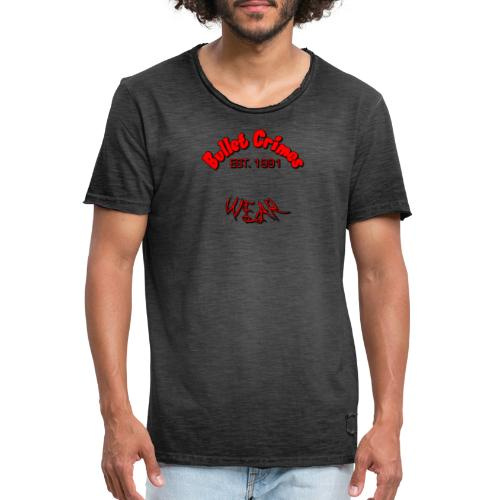 BulletCrimesWear - Camiseta vintage hombre