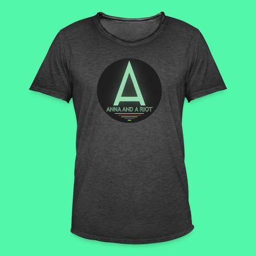 Anna And A Riot - Männer Vintage T-Shirt