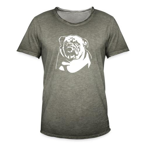English Bulldog - negative - Miesten vintage t-paita