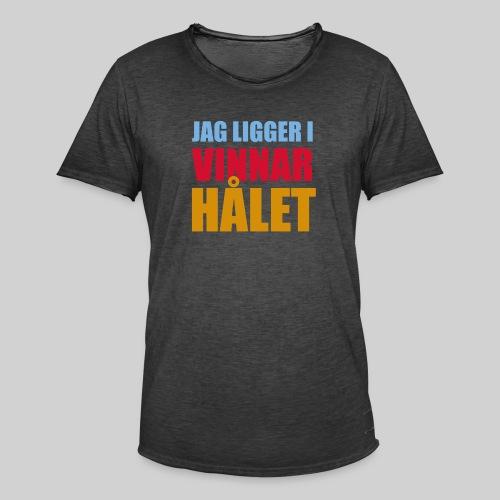 jag ligger i vinnarhalet - Vintage-T-shirt herr