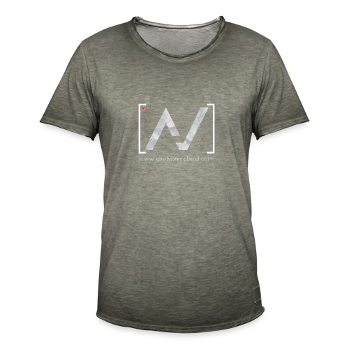 logoalpha blanc - T-shirt vintage Homme