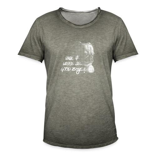 What if we're all good boys? Nachdenklicher Mops - Männer Vintage T-Shirt