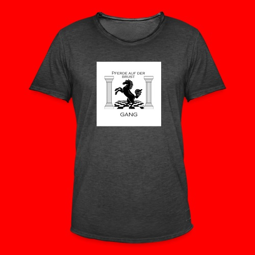 Pferde Auf Der Brust Gang - Männer Vintage T-Shirt