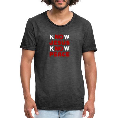 Know Jesus Know Peace (Classic) - Männer Vintage T-Shirt