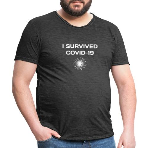 I Survived Covid-19 - Miesten vintage t-paita