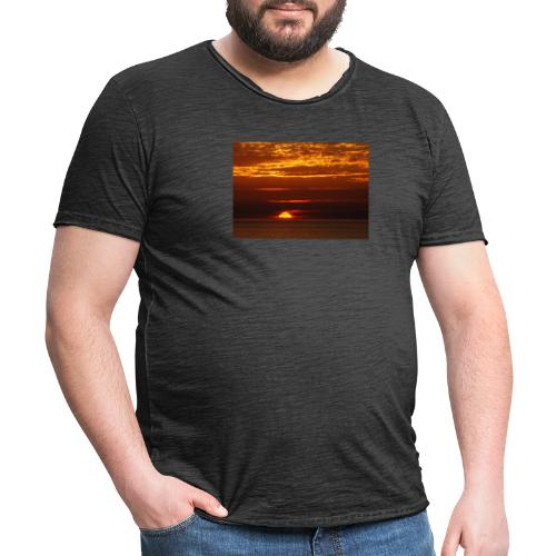 Sunset - Vintage-T-shirt herr