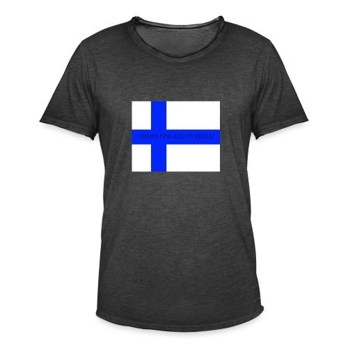 SUOMI FINLAND PERKELE - Miesten vintage t-paita