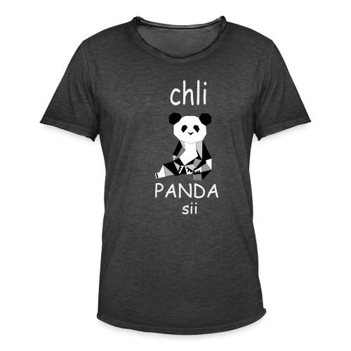 Panda mit Text - Männer Vintage T-Shirt