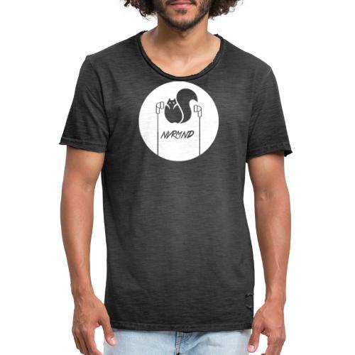WHITE LOGO - Männer Vintage T-Shirt