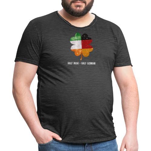 Half Irish Half German Kleeblatt - St Patricks Day - Männer Vintage T-Shirt