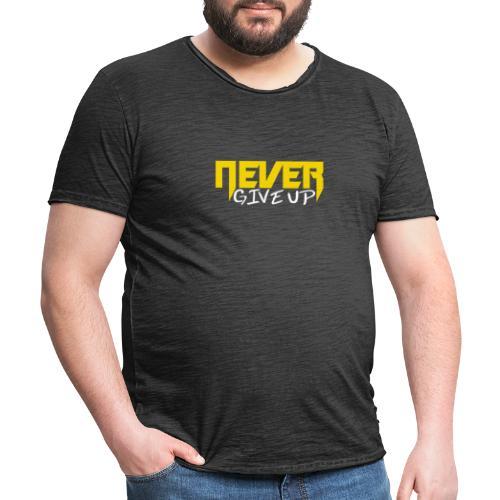 Never give up - Männer Vintage T-Shirt