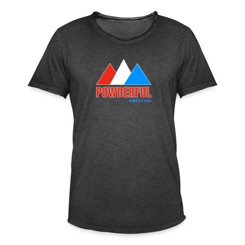 Powderful Sweet Ski - Männer Vintage T-Shirt