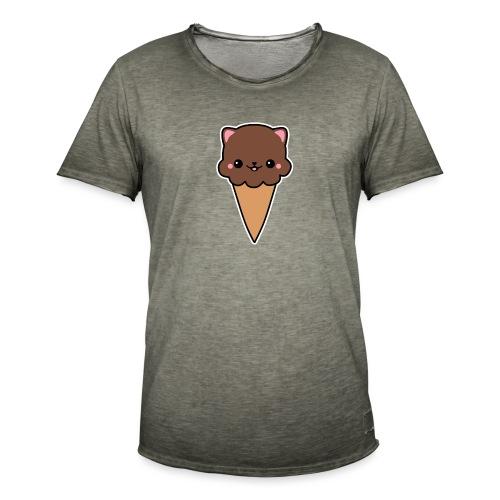 Eis Katze Schokolade - Männer Vintage T-Shirt