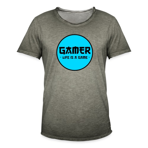 Gamer Life is a Game - Männer Vintage T-Shirt