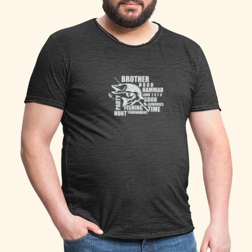 Pikefishing White - Vintage-T-shirt herr