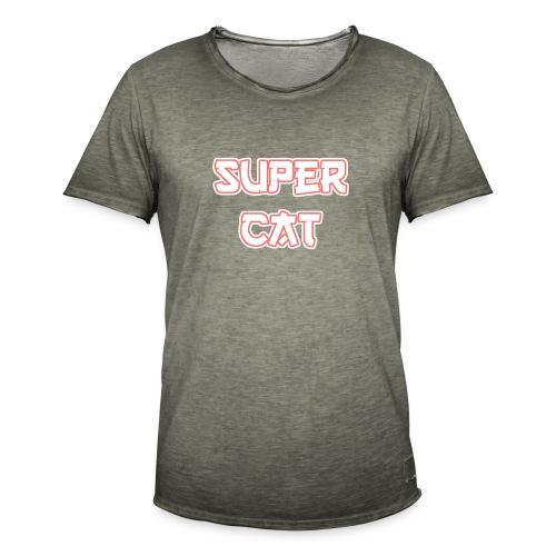 Super Cat - Männer Vintage T-Shirt