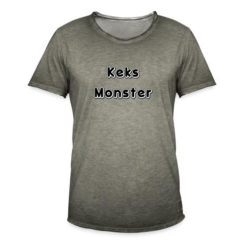 Keks Monster - Männer Vintage T-Shirt