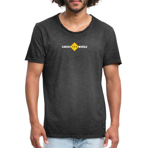 London Souvenir - Mind The Gap - Männer Vintage T-Shirt