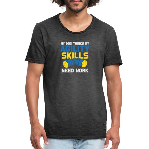 Mein Hund Trainiert Mich - Männer Vintage T-Shirt