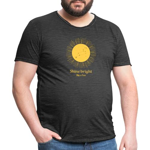 leo zodiac t shirt design maker 1426c - Herre vintage T-shirt
