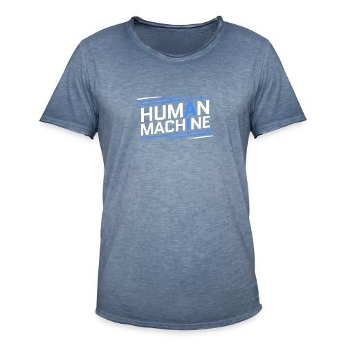 Human Machine Umanoide Robot Intelligenza AI - Maglietta vintage da uomo