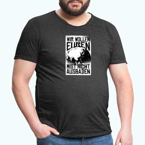 Klare Kante Zeigen - Fridays For Future - Men's Vintage T-Shirt