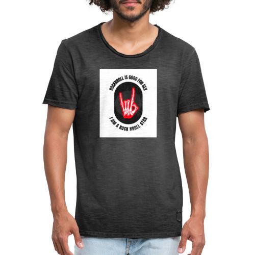 Rocknroll is Good For Sex - T-shirt vintage Homme