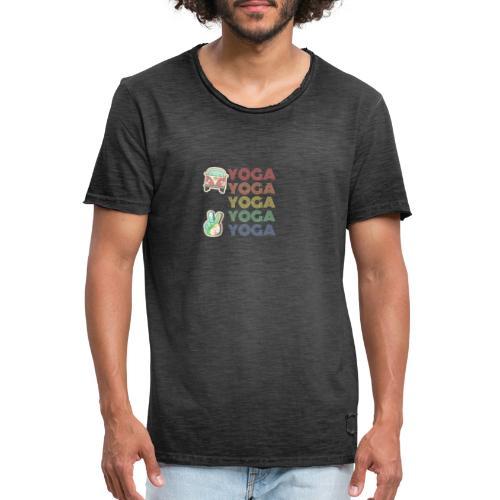 YOGA HIPPIE - Camiseta vintage hombre