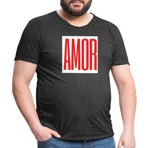 AMOR - Camiseta vintage hombre