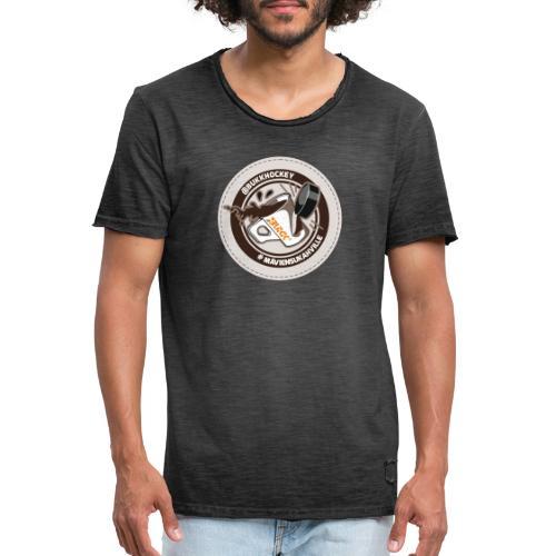 BUKK EMBL maviensutkahville coffee - Miesten vintage t-paita