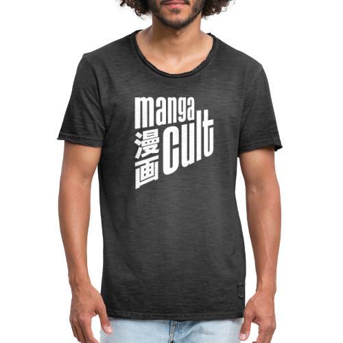 Manga Cult Logo Weiß - Männer Vintage T-Shirt